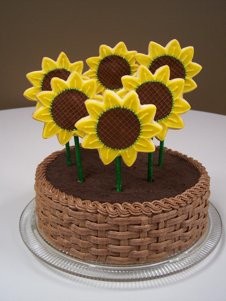 Sunflower cookies & Cake