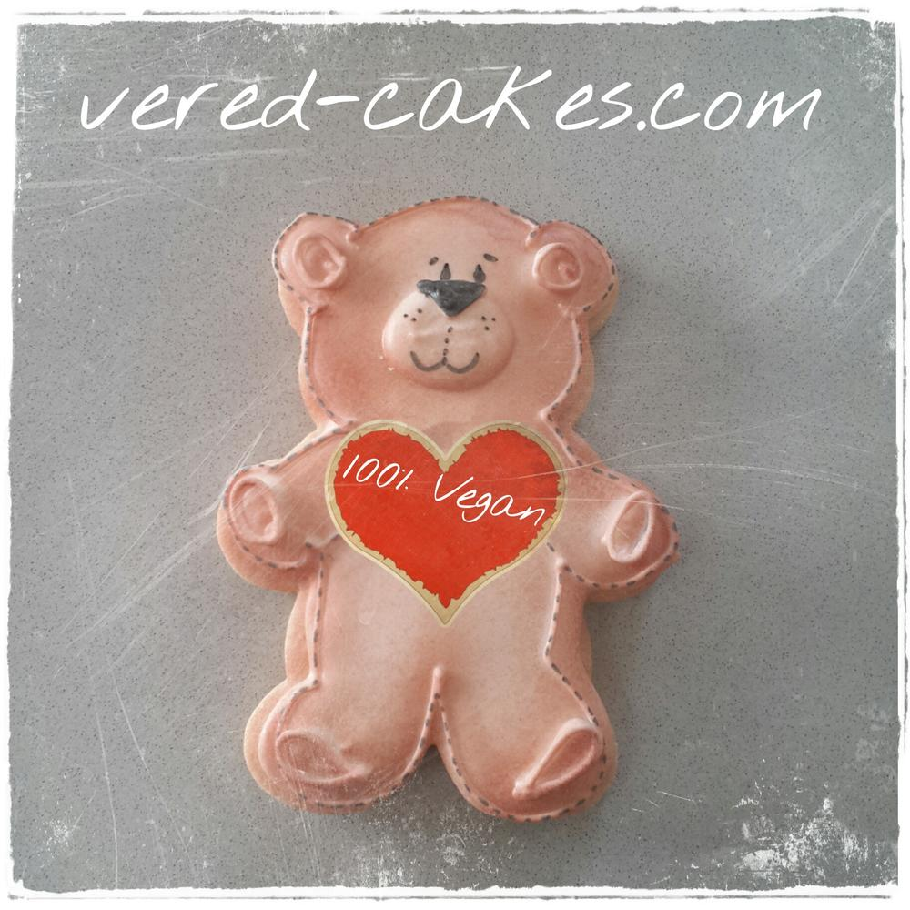 Vegan icing - and cookie (teddy bear)
