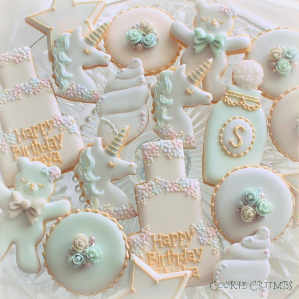 Pastel Birthday Cookies