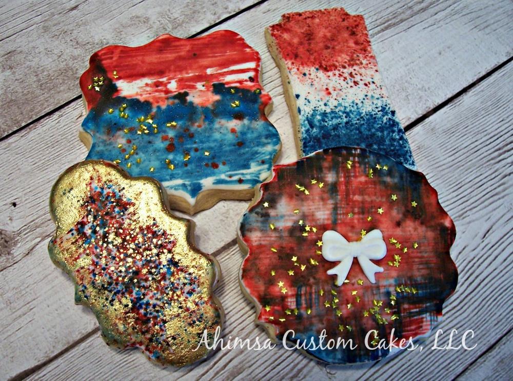 Abstract Fireworks by Ahimsa Custom Cakes