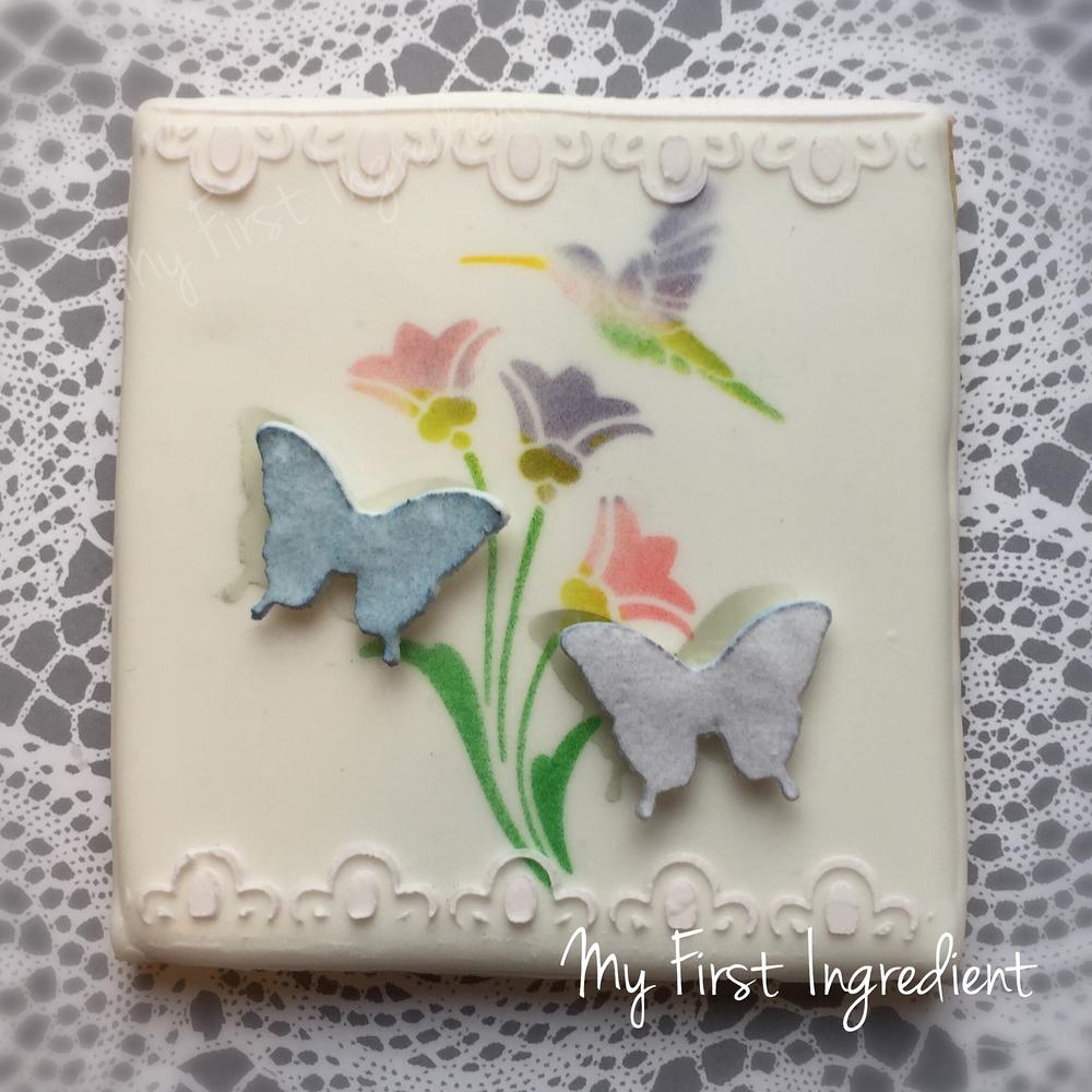 Hummingbird & Butterflies