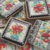 Traditional needlepoint inspired cookies