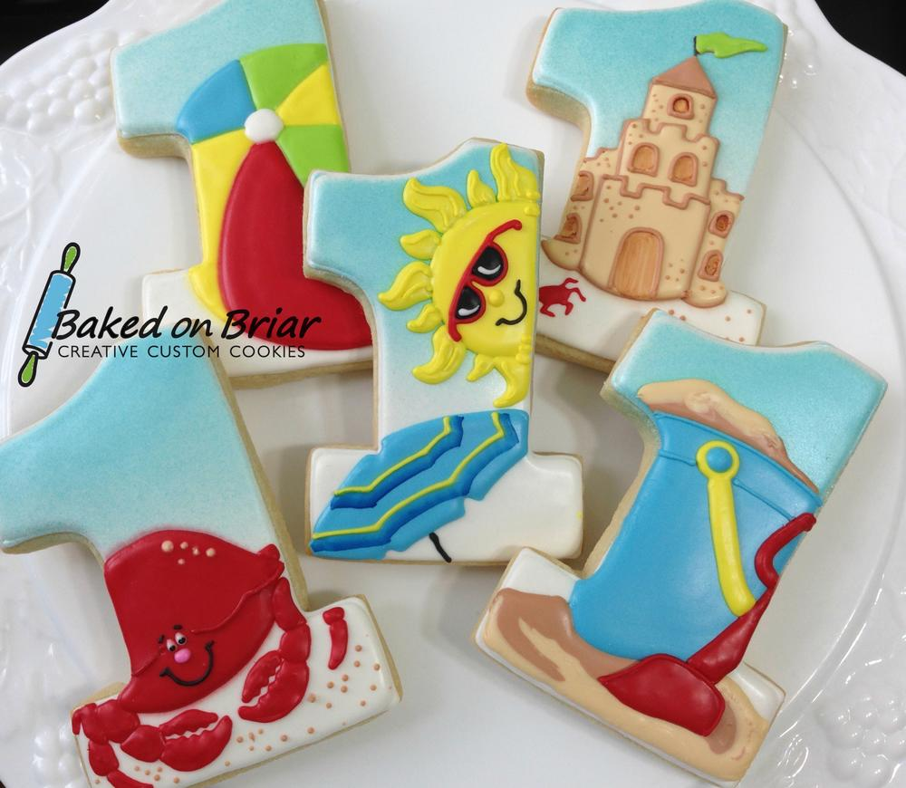 Beach Themed 1st Birthday Cookie Connection