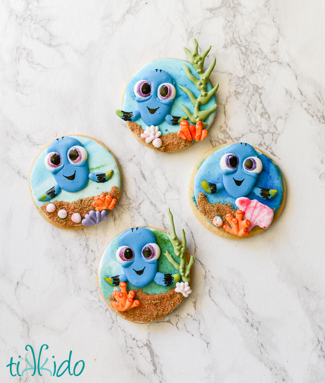 Finding Dory Baby Dory cookies