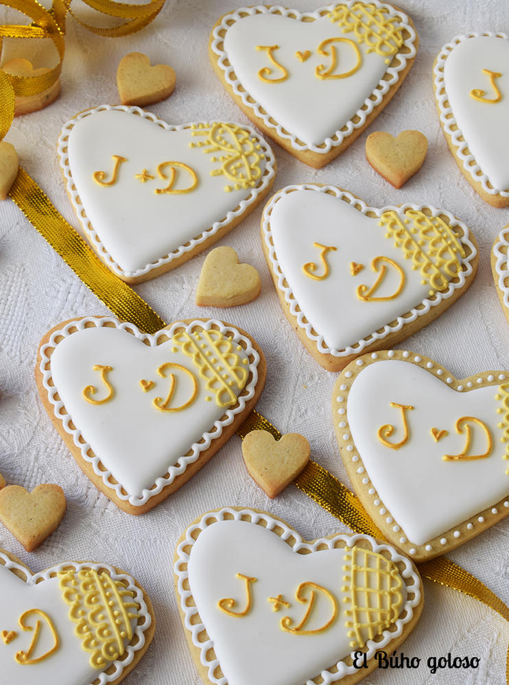 Decoracion Bodas De Oro ~ Galletas Bodas de Oro  Cookie Connection