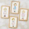 Vintage Painted Paper Doll Cookies