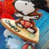 Surfing snoppy