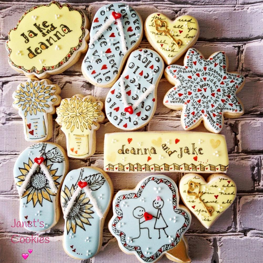 Summer Wedding shower cookies