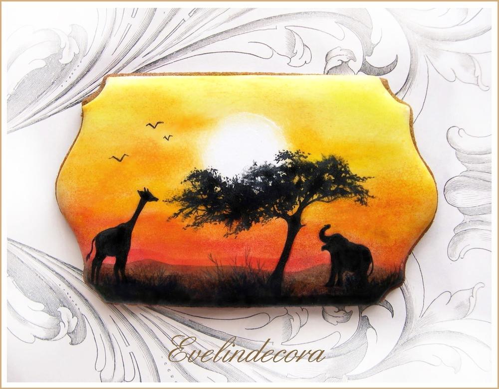 African Landscape Cookie