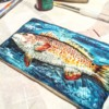 Handpainted Red Fish Cookie