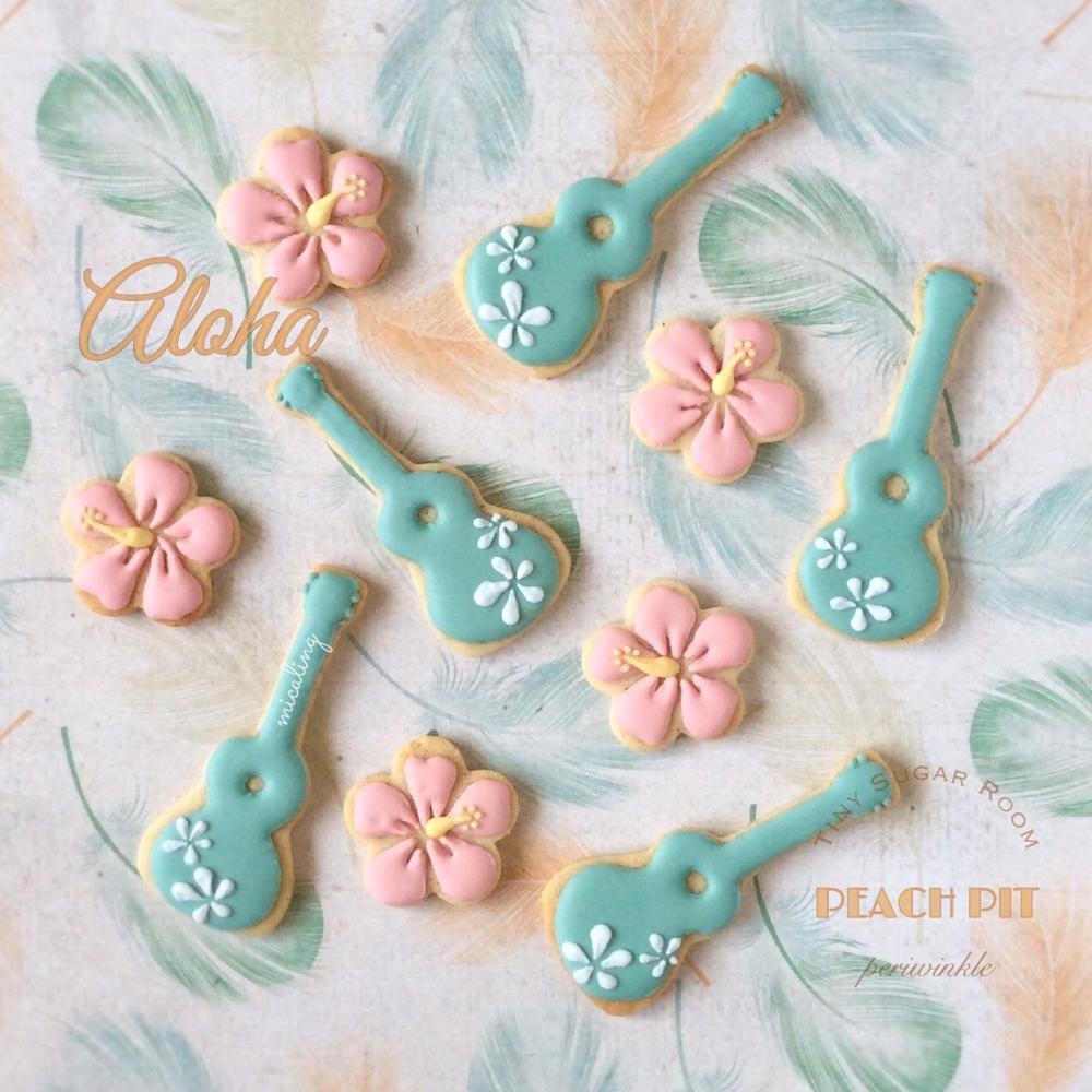 Ukulele & Hibiscus Cookies