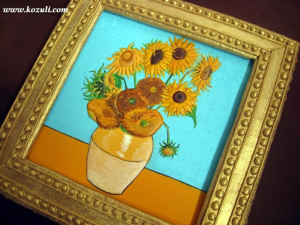"Cookie Copy of  Van Gogh's ""Sunflowers"""
