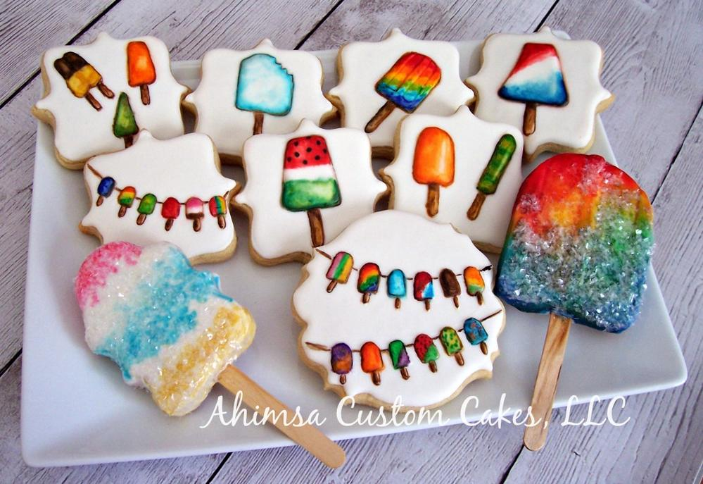 ALS Awareness Ice pops by Ahimsa Custom Cakes