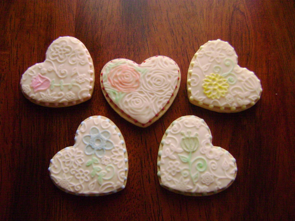 Embossed Hearts