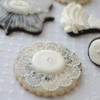 Wedding lace and marble cookies