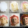 Bowie inspired cookie progress by Ahimsa Custom Cakes