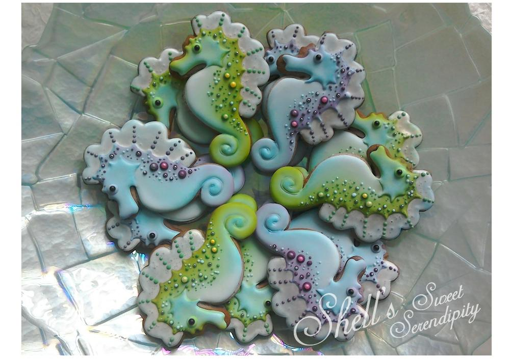 Seahorse Cookies by Shell's Sweet Serendipity