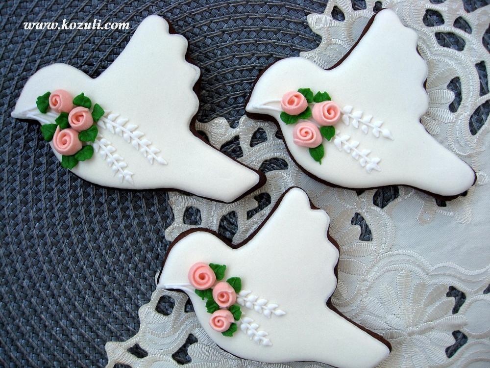 Wedding birds cookies