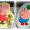 Peppa Pig on Bike and George Pig