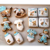 Set of Newborn Baby Boy Cookies