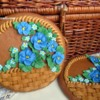 Cookie Basket with Violets