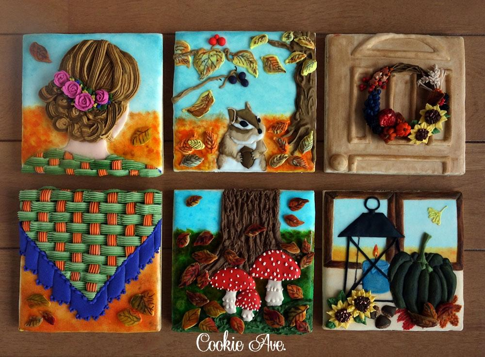 Walking into Autumn, cookie memory game by Ryoko ~Cookie Ave.