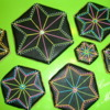Neon Hexagon Cookies