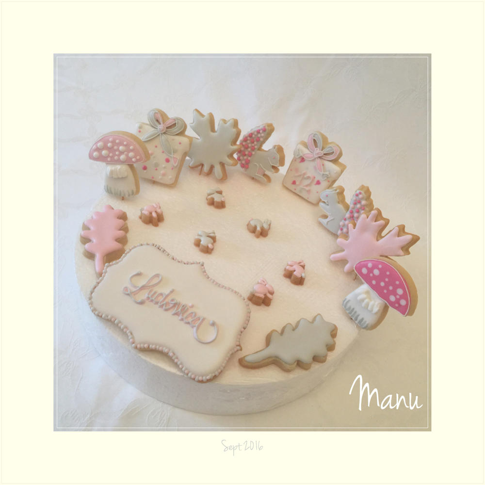 Cookies for Ludovica's Birthday Cake | Manu