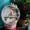 Christmas gingerbread cookie with transfer icing decor