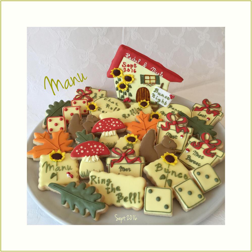 (Fall Themed) Bunco Night Cookies   Manu