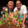 Cookie Sculpture: With André van Duin (Famous Dutch comedy man)