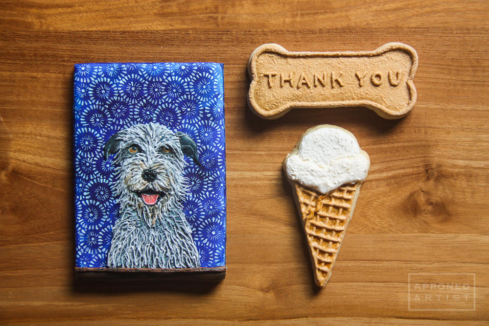 A sentimental gift for an Irish Wolfhound breeder