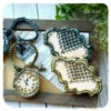 Vintage cookies with chain clock