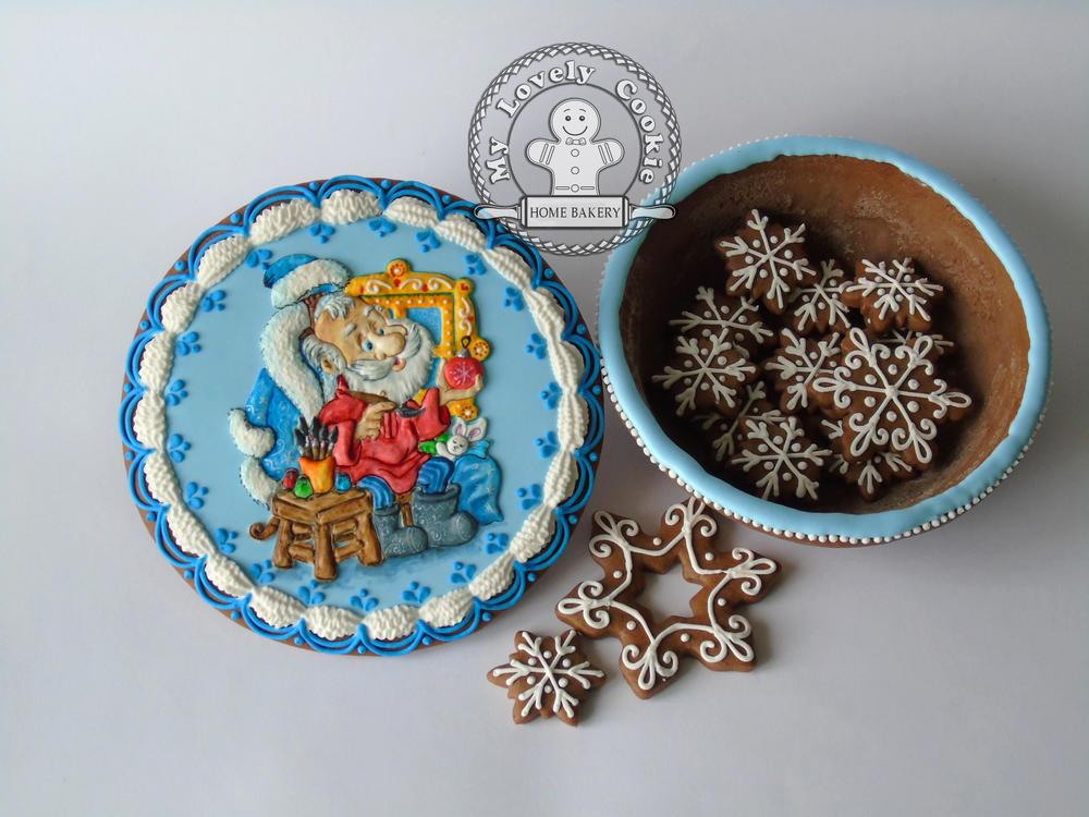 Christmas Gingerbread Box - Open!