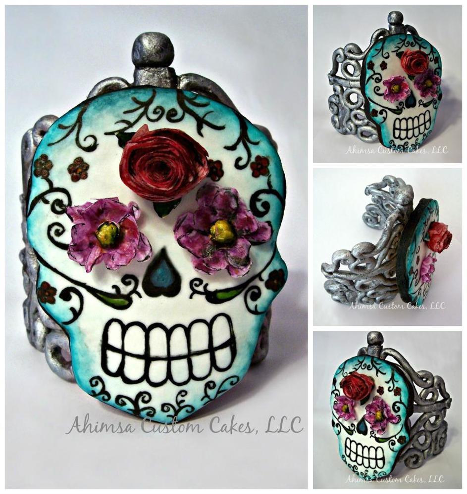 Skull Ring cookie by Ahimsa Custom Cakes