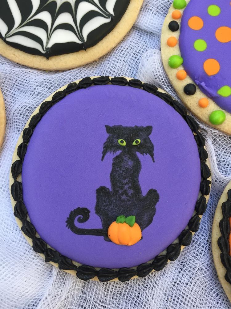 Halloween Cat - Judy Hannon Dark Side Cookies