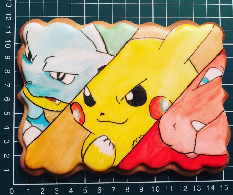 Huge Handpainted Pokemon Cookie