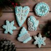 handpiped Christmas set