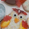 Fall Owl - Wafer paper