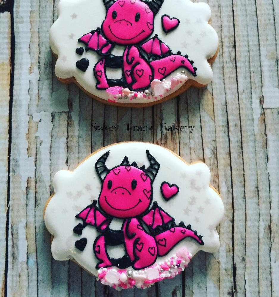 Baby Dragon Cookie