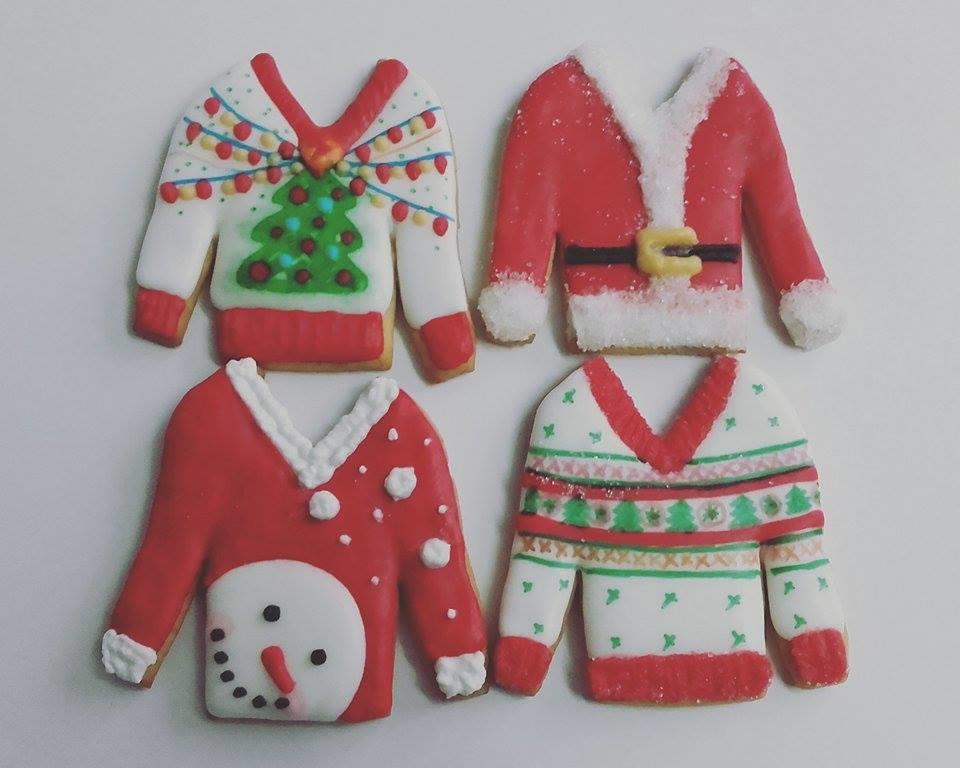 christmas cookies...ugly christmas sweater cookies