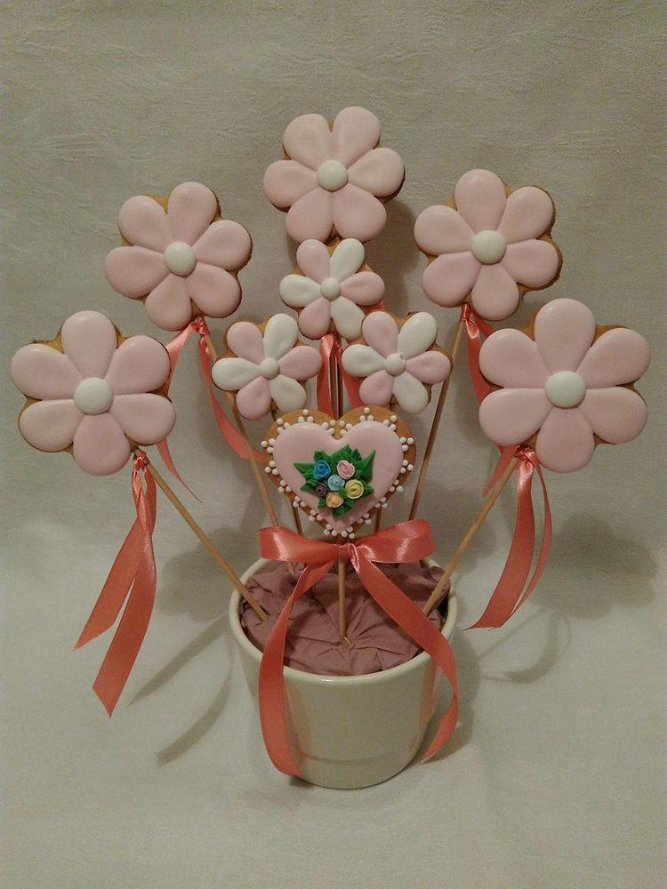 Pink Cookie Bouquet
