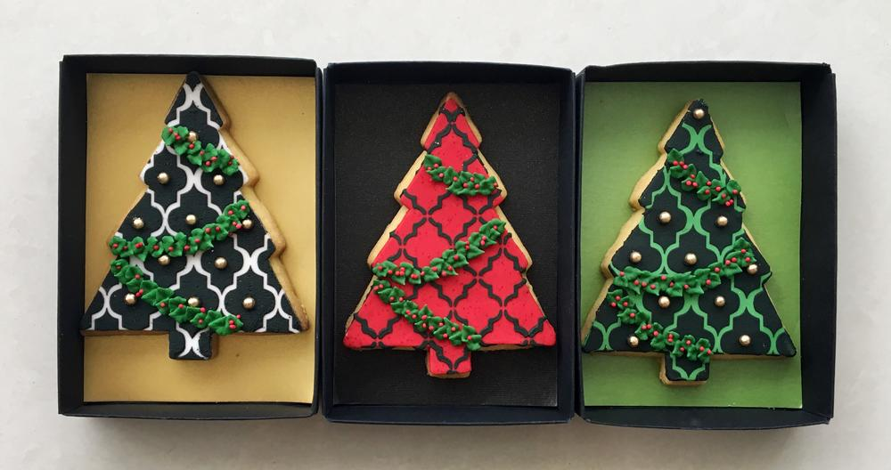 Lorena Rodriguez. Christmas tree cookies.