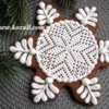 Christmas cookie Snowflake.