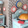 3-D Retro Oven Cookie Detail, with Turkey!
