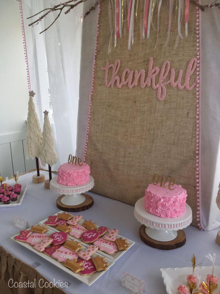 Twin Girls First Birthday Party