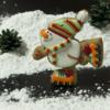 Sporty snowman