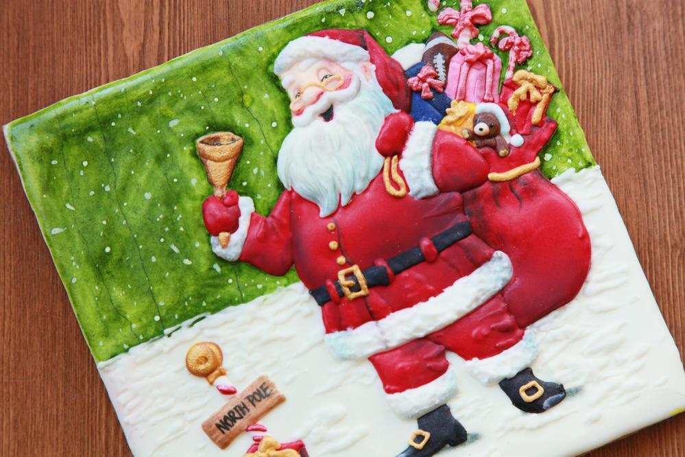 Christmas santa cookie