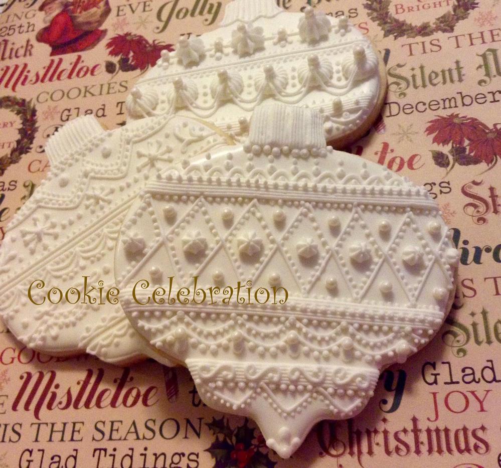 White Ornaments (Cookie Celebration)