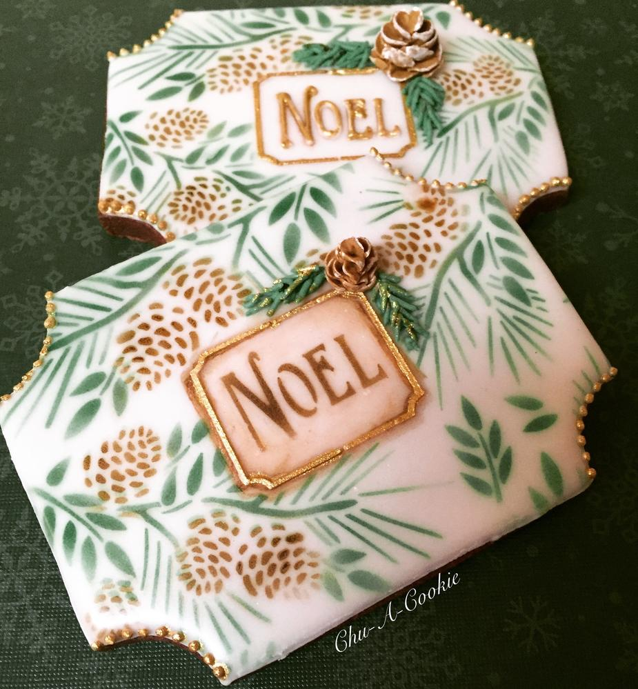 Noel - Christmas Plaque Cookie